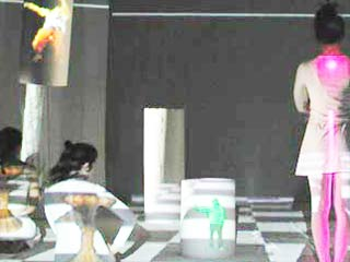 Virtual/Real Interface Project, research at Chisenhale Dance Space 2001
